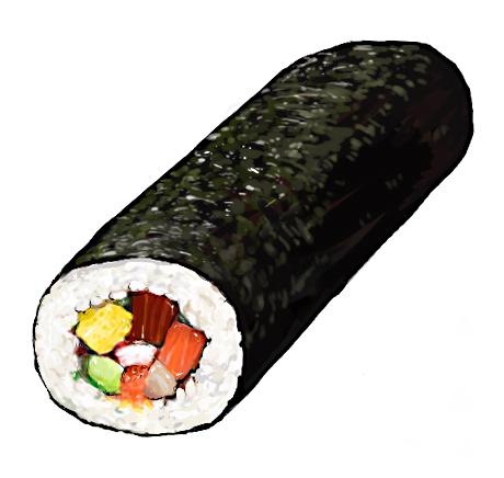 460x436 Sushi Roll Ilustraciones, Recetas E De Comida