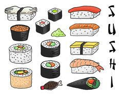 236x194 Sushi Drawing