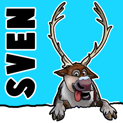 400x400 How To Draw Sven The Reindeer From Frozen Step By Step Tutorial
