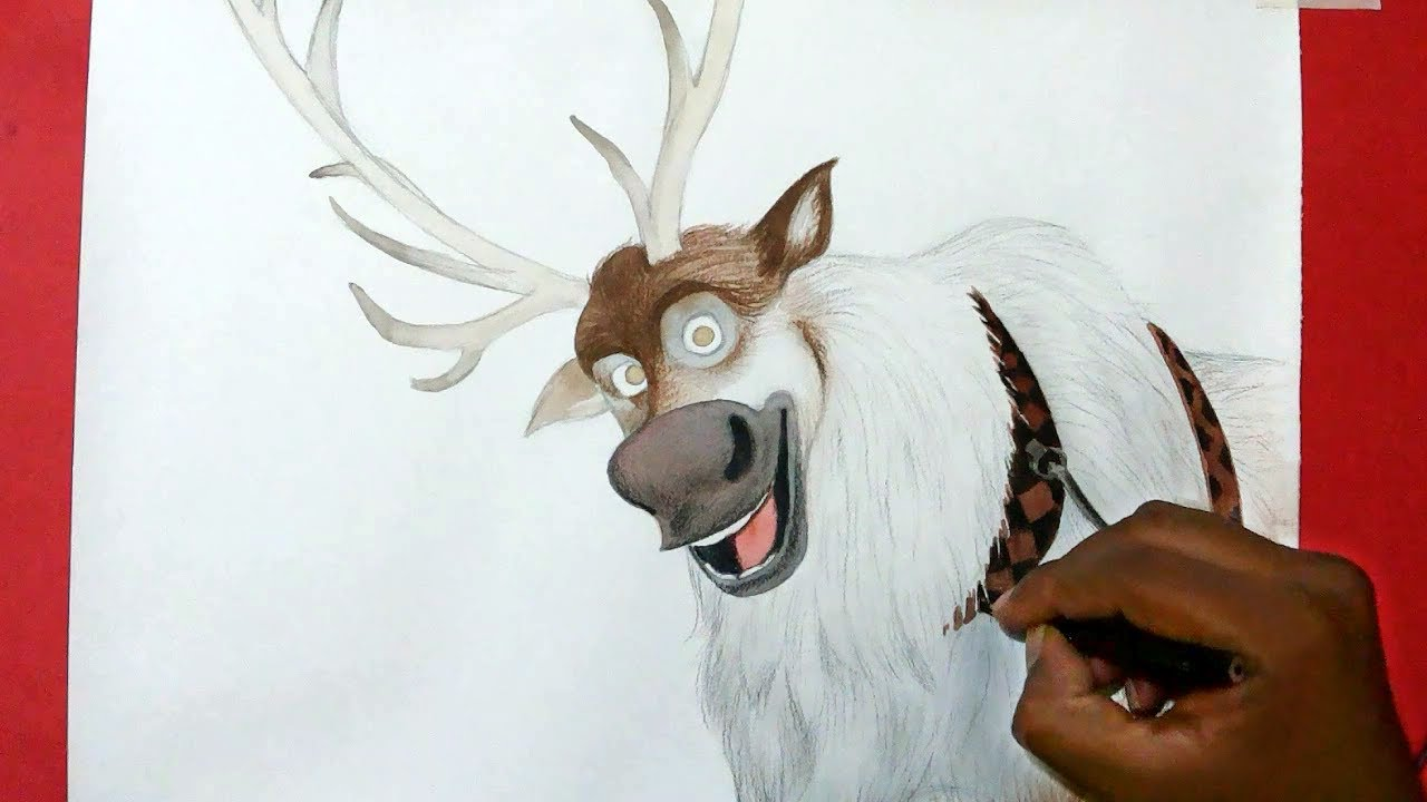 1280x720 How To Draw Sven From Frozen