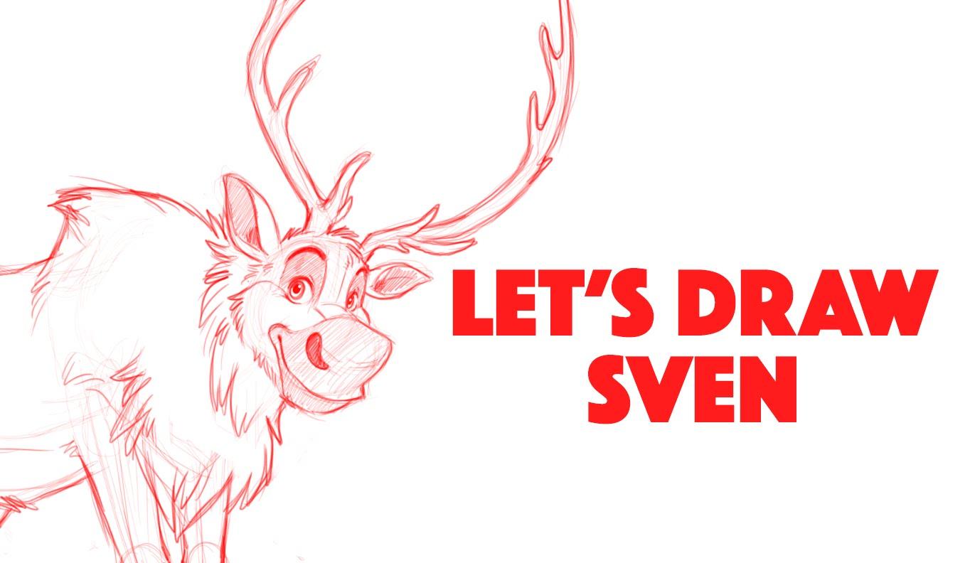 1364x792 Let's Draw Sven From Disney's Frozen