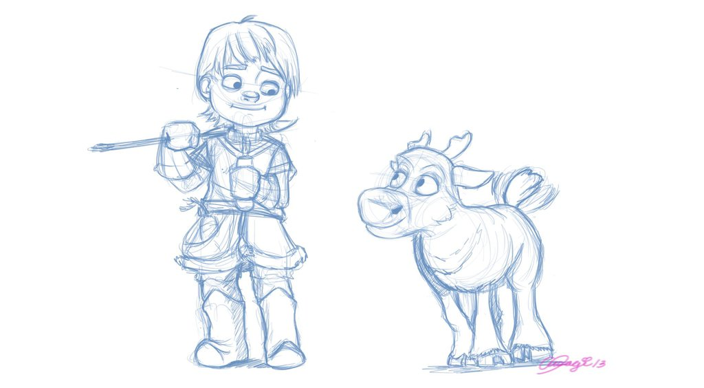 1024x564 Young Kristoff And Sven Doodle By On