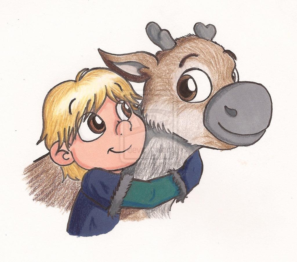 1024x906 Baby Sven Frozen Drawing