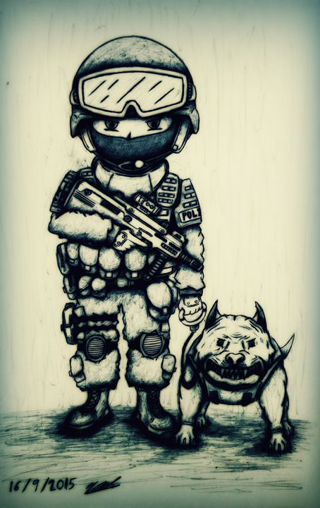454x720 Swat And Angry Dog