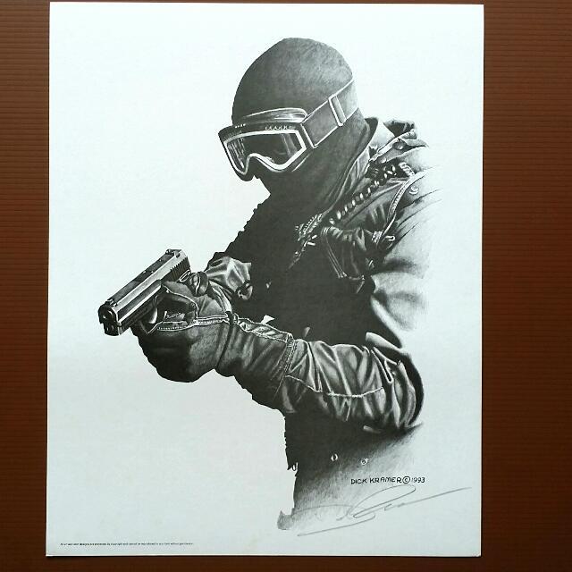 640x640 Swat Team Make My Day Pencil Print By Famous Artist Dick Kramer