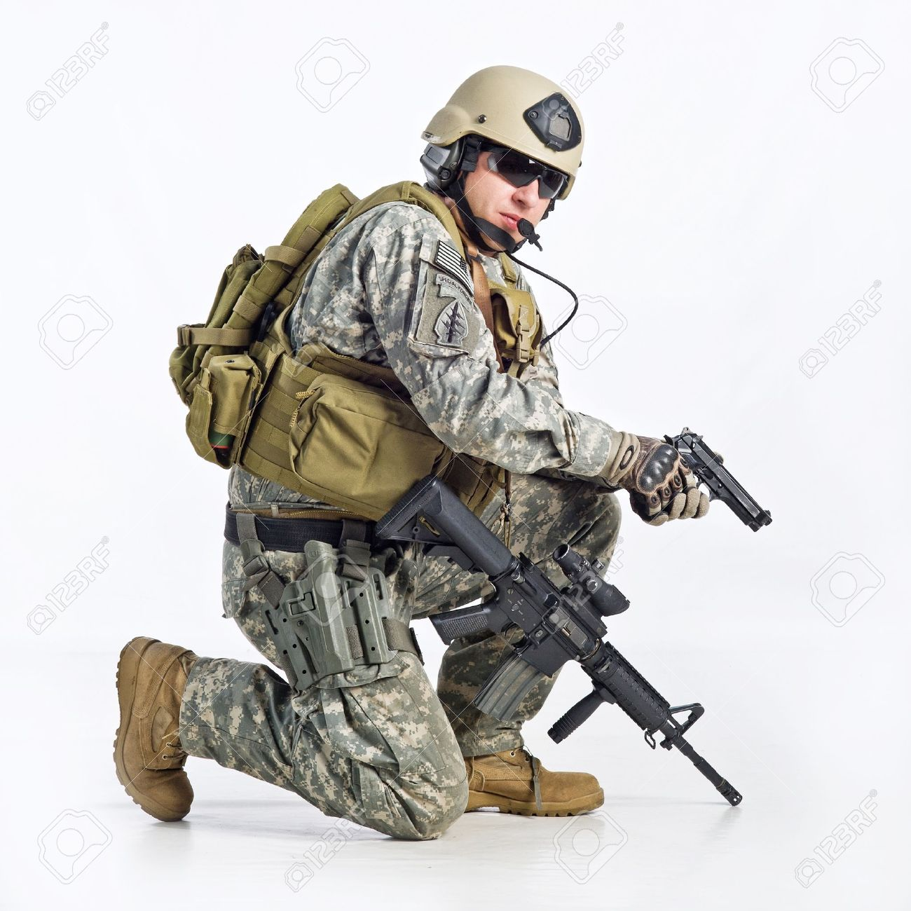 1300x1300 Swat Team Officer On White Background Stock Photo, Picture