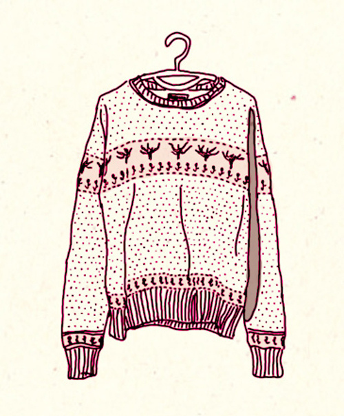 500x604 Christmas Sweater Drawing Shared By Anastasia