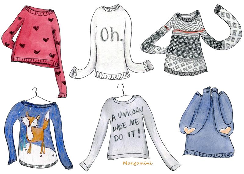 800x570 It's Sweater Weather, Yay! Illustrations, Fashion Illustrations