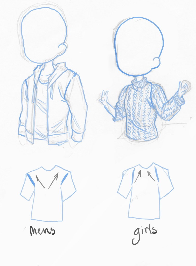 756x1026 Manga Interest How To Draw Sweaters Chibis Or Manga