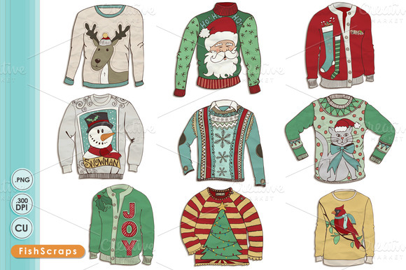 580x386 Ugly Sweater Drawing