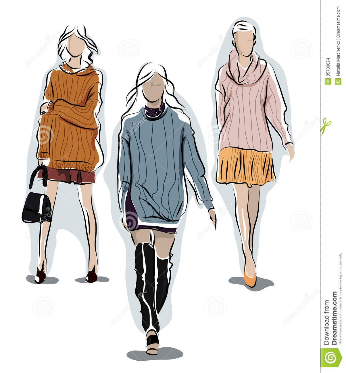 1204x1300 Knit Sweater Fashion Illustration