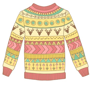 367x357 Ugly Christmas Sweaters Drawing