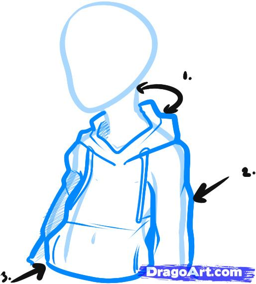 514x570 how to draw anime hoodies