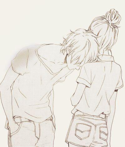 400x469 Photos Anime Couples Sketch,