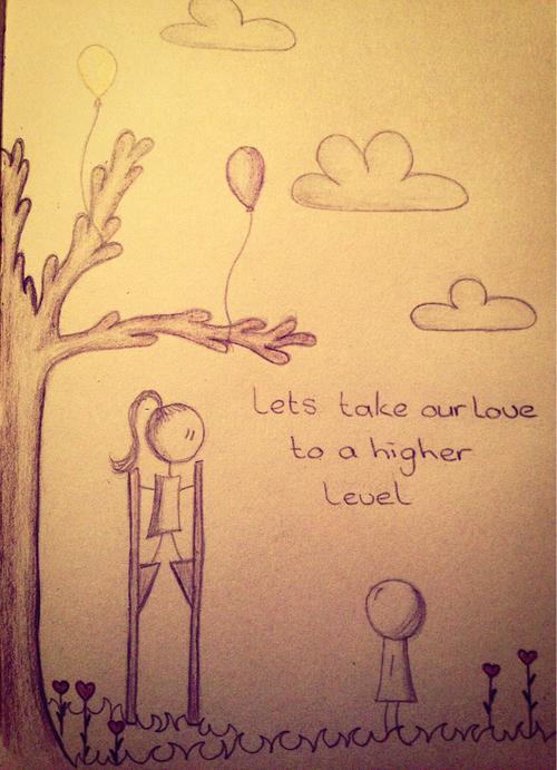 500x691 Sweet Couple Love Drawing Uploaded By Marieke