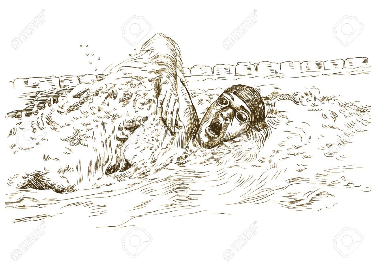 1300x919 Swimmer, Crawl