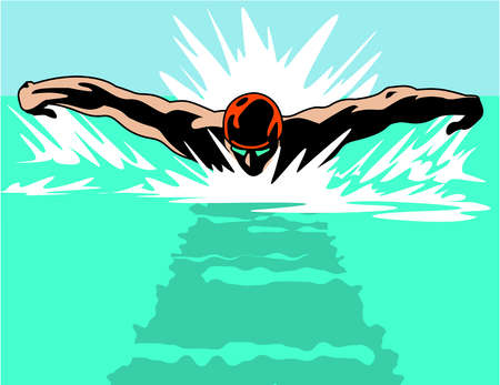 450x347 Swimmer Graphic Group