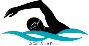 300x155 Swimmer Athlete Vector Clipart