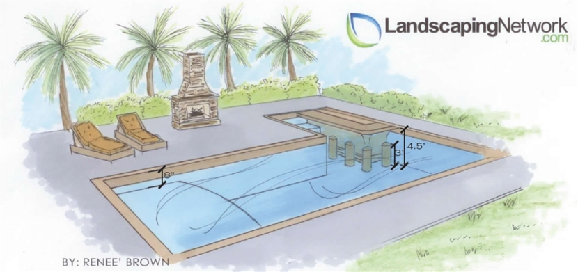 Swimming Pool Details Drawing : Swimming pool drawing at getdrawings free for