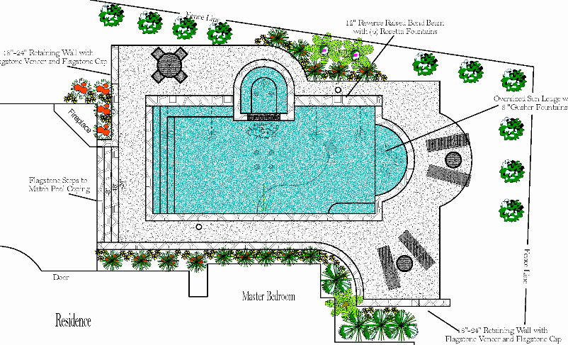 802x487 Swimming Pool Design Plans Custom Ideas