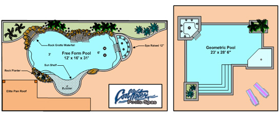 Swimming pool drawing at free for for Pool design tampa