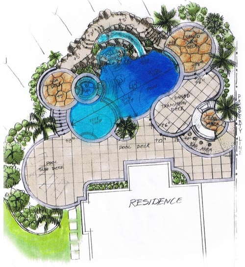 500x544 Swimming Pool Drawings