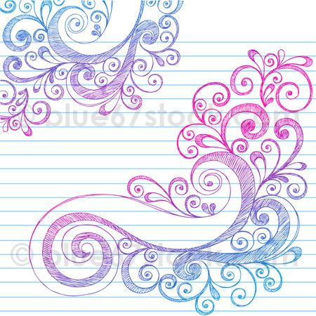 450x450 Hand Drawn Abstract Sketchy Swirl Doodle Drawing Vector