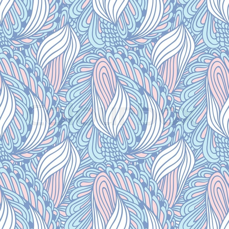 800x800 Hand Drawn Swirl Fashion Textile Seamless Pattern. Doodle Print