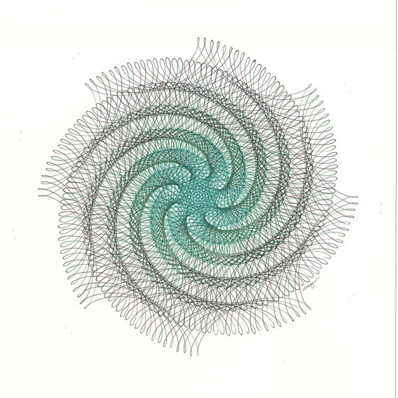 570x570 Spiral Drawing Green Spiral Art Swirl Drawing Green Swirl