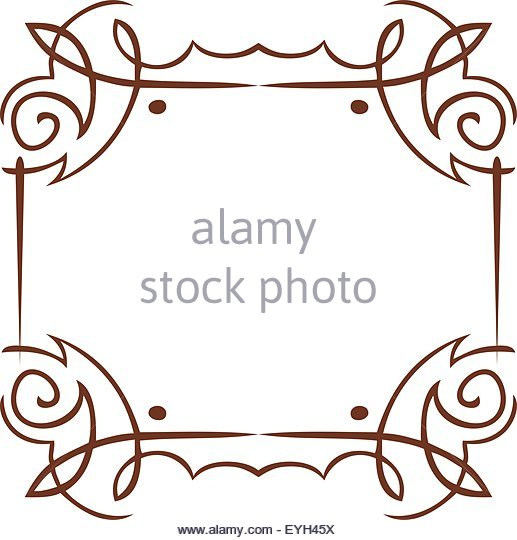 517x540 Simple Vector Frame Swirls Drawing Stock Photos Amp Simple Vector