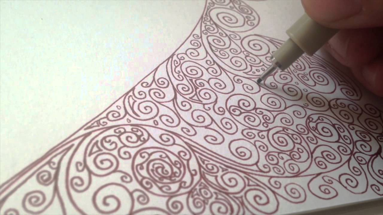 1280x720 Drawing Swirls