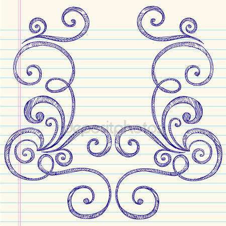 450x450 How To Draw Swirl Patterns Sketchy Hand Drawn Notebook Doodles
