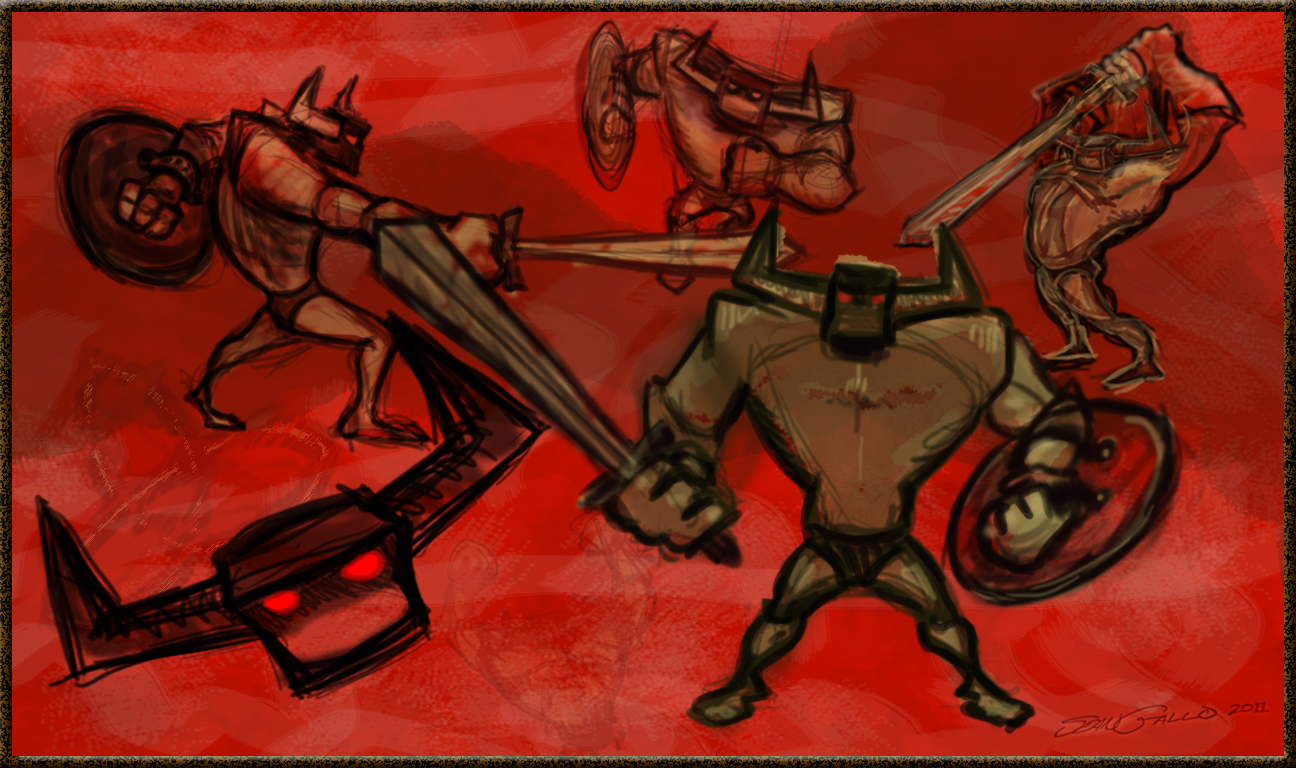 1296x768 Barbarian With Sword Amp Shield Drawing Exercise Sean Gallo Designs