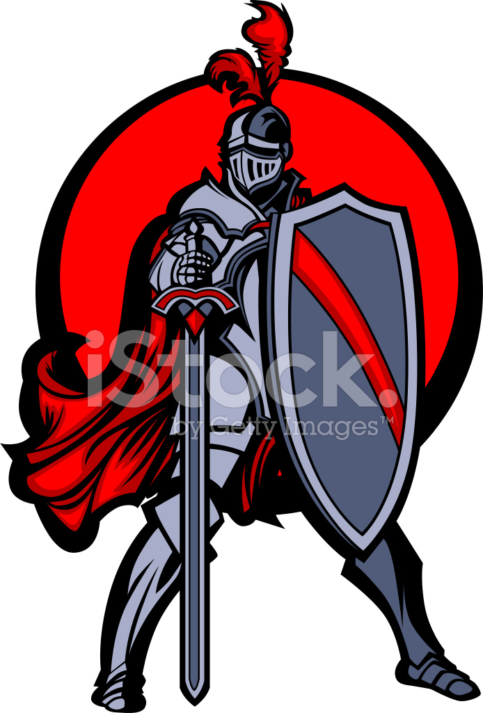 694x1024 Knight Mascot With Sword And Shield Vector Image Stock Vector