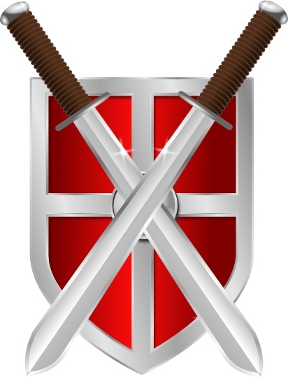 412x539 Swords And Shield Clip Art Free Vector In Open Office Drawing Svg