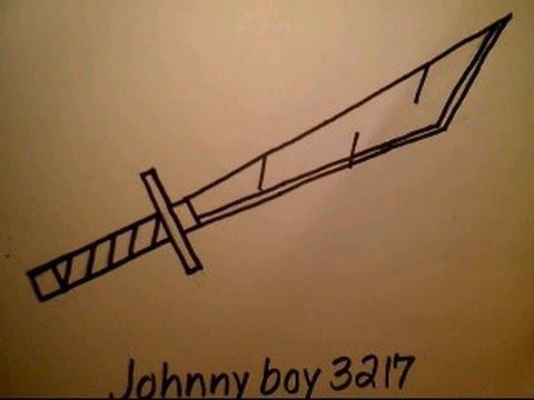 480x360 How To Draw Leonardo39s Katana Sword Samurai Weapon Easy Simple