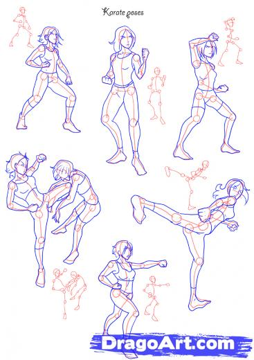367x520 Photos How To Draw Fighting Poses,
