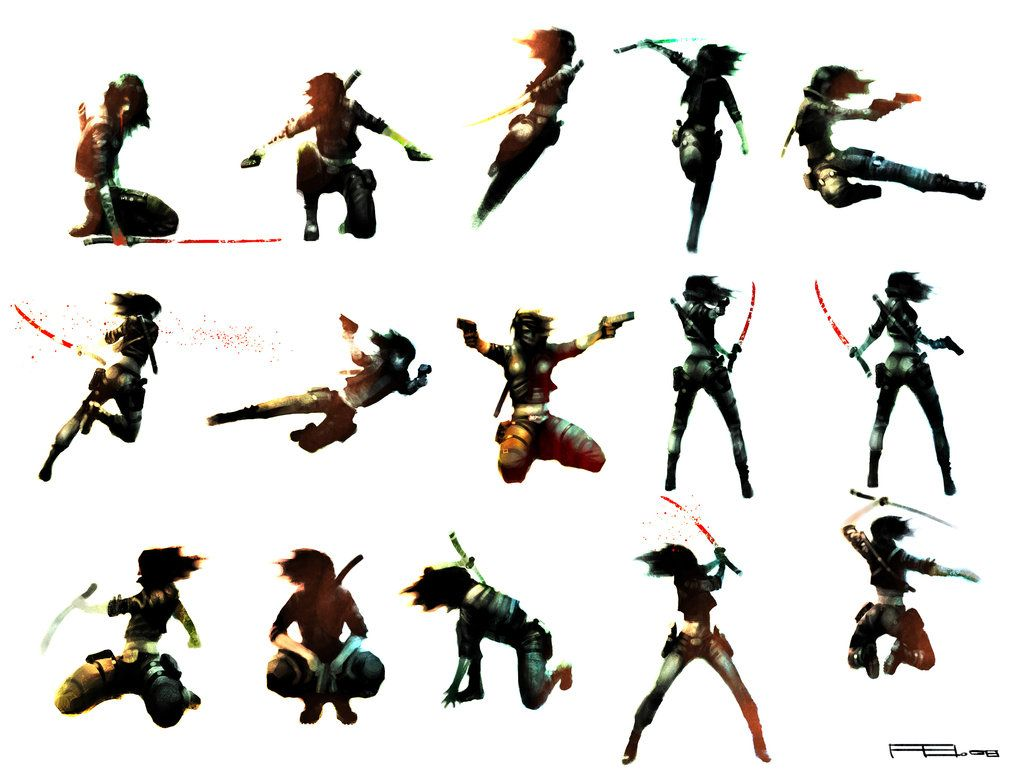 1024x782 Action Poses