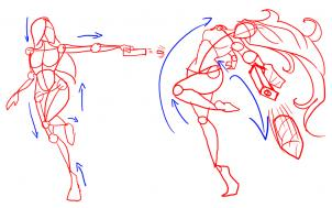 302x189 How To Draw Fighting Poses Step 6 Art Fighting