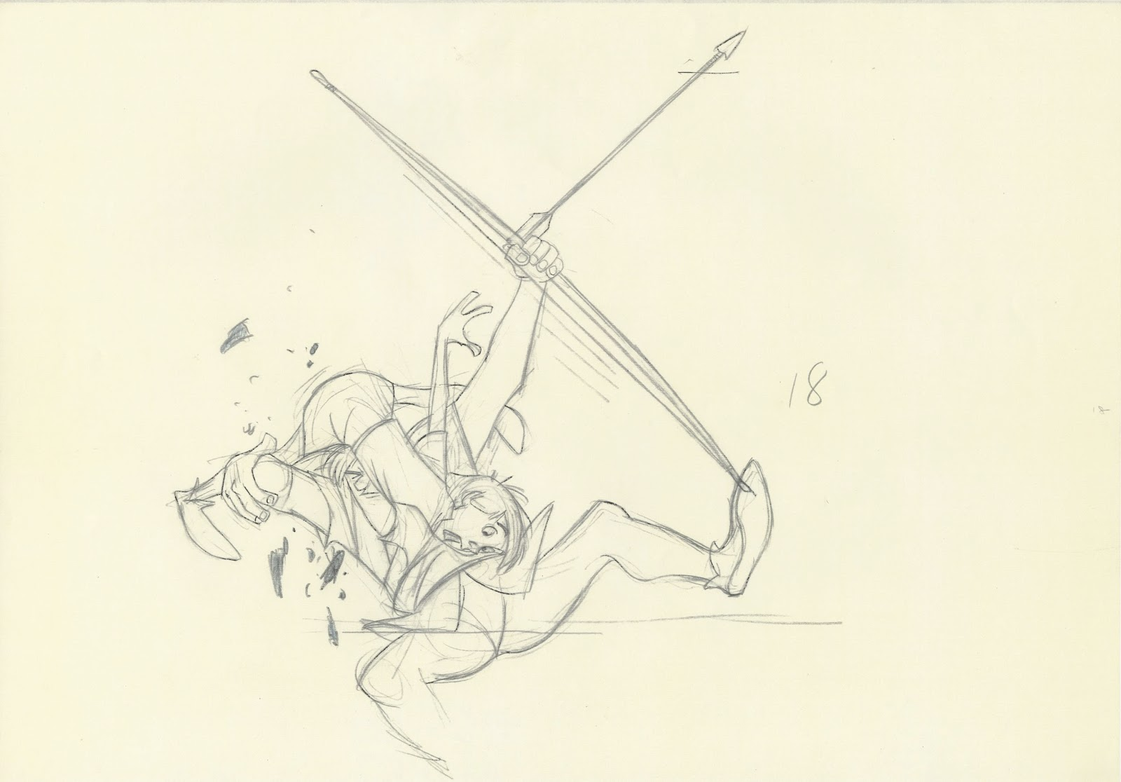 1600x1116 Sword In The Stone Kay And Wart Milt Kahl, Production Drawing