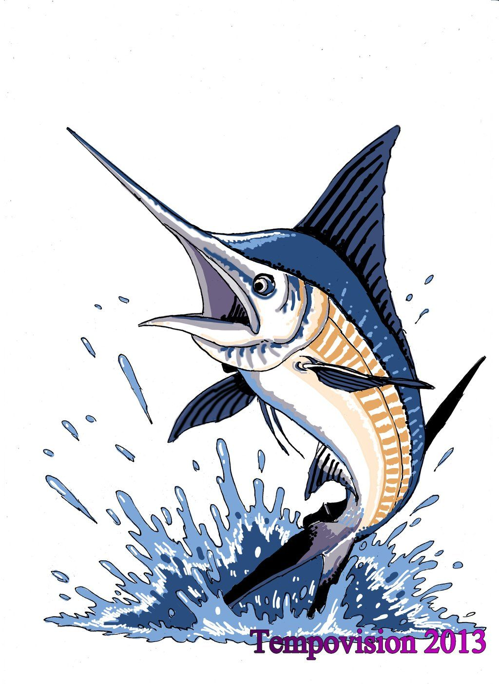 1024x1403 Blue Marlin Jumping Jumping Blue Marlin By Tempovision License