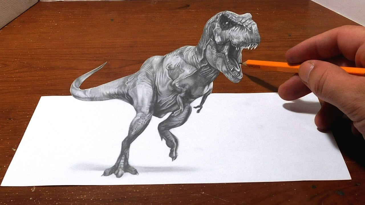 1280x720 Drawing A T Rex