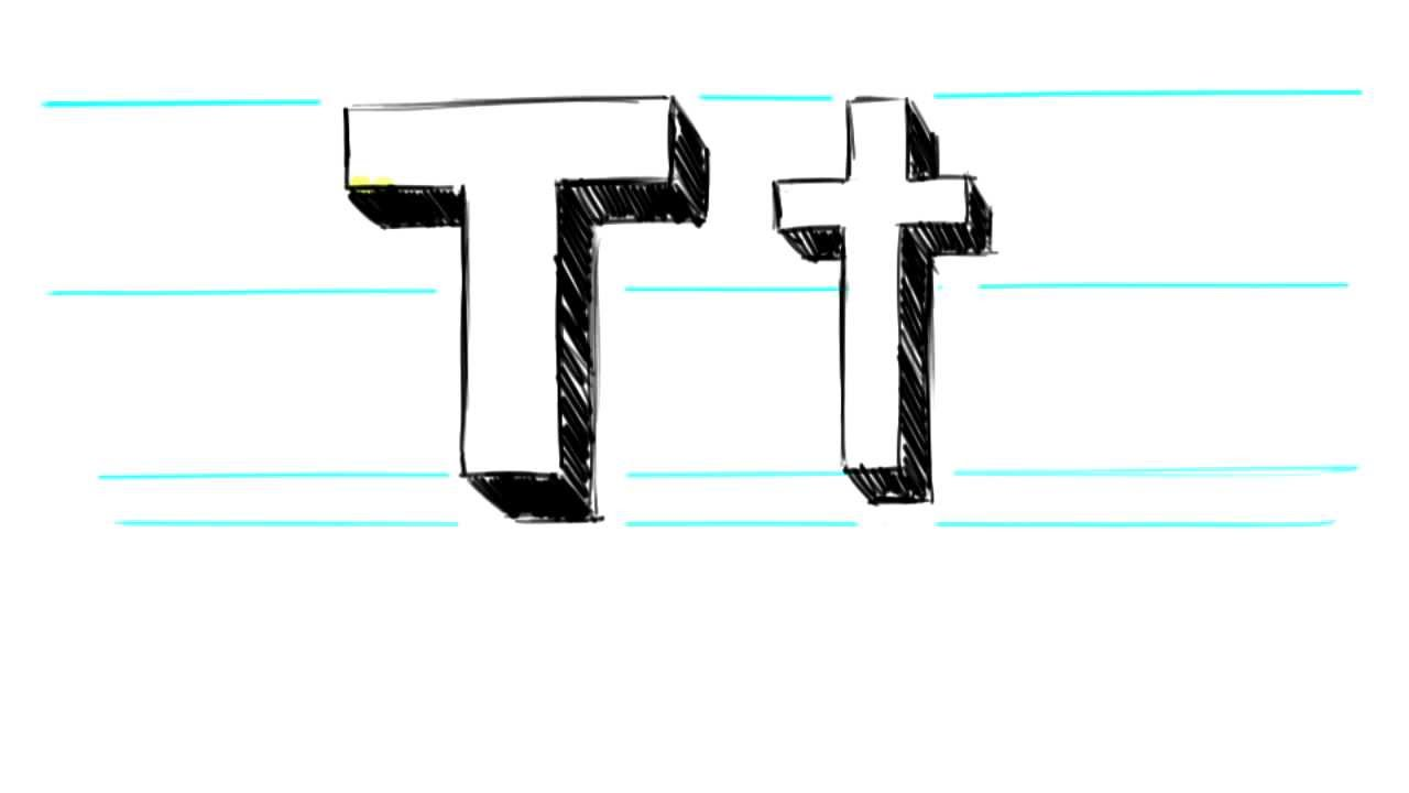 1280x720 How To Draw 3d Letters T