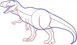 302x180 How To Draw A Tyrannosaurus Rex Dinosaur How To Draw Dinosaurs