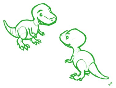 378x287 Art Of Laura Lee (Personal Blog) Baby T Rex