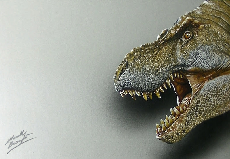 800x556 Scary T Rex Drawing