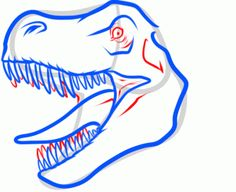 236x192 How To Draw A T Rex Head, Step By Step, Dinosaurs, Animals, Free