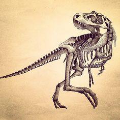 236x236 T Rex Skeleton Dinosaurs Wall Art Sticker Wall Decal Transfers