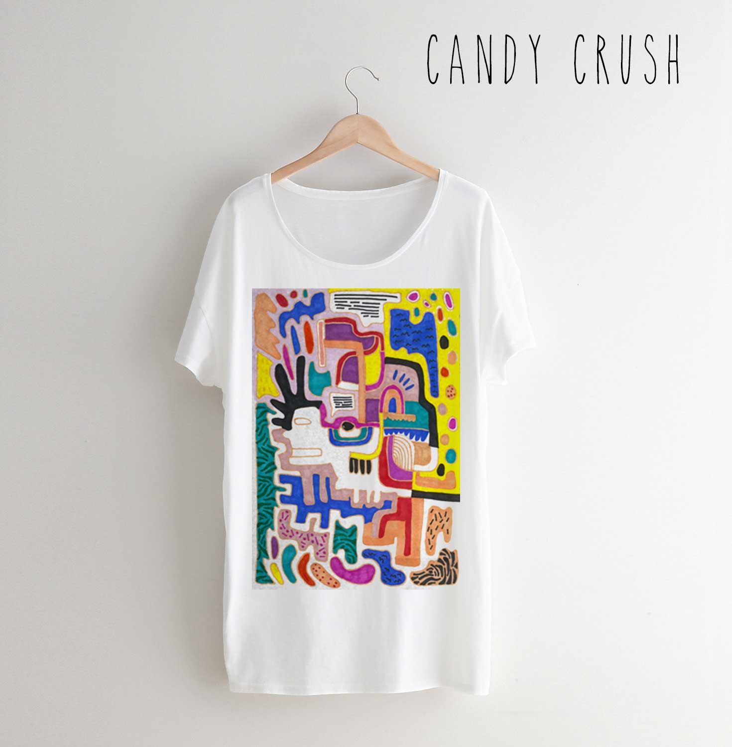 1470x1500 Candy Crush T Shirt Fashion Style Trend Design Art Cool Drawing