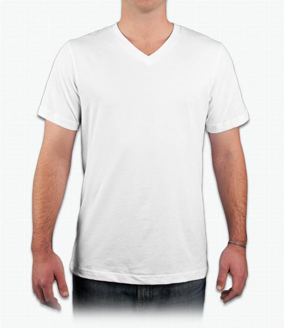 580x670 Custom Canvas Delancey V Neck T Shirt